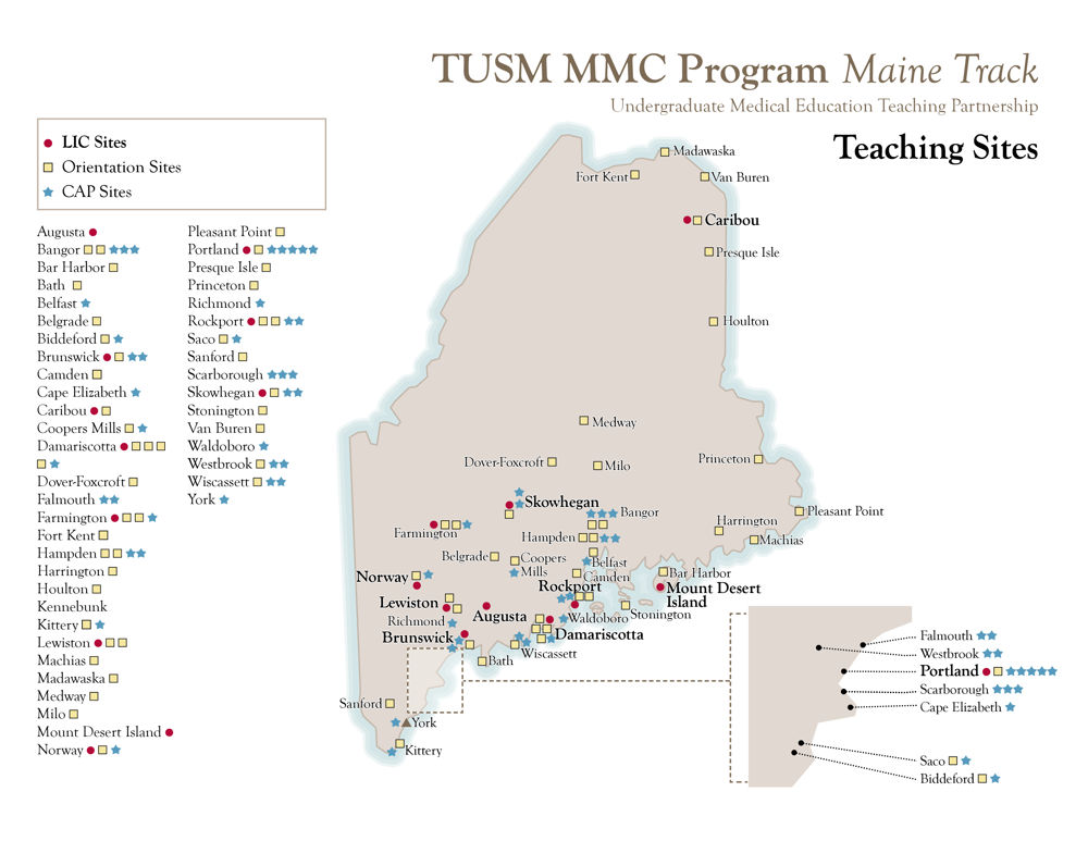 TUSM MMC Program Maine Track Teaching Sites